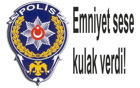 Vatandaş'tan polise teşekkür!
