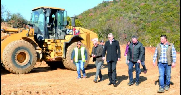 Özkan, Gölecik Barajı çalışmalarını yerinde inceledi
