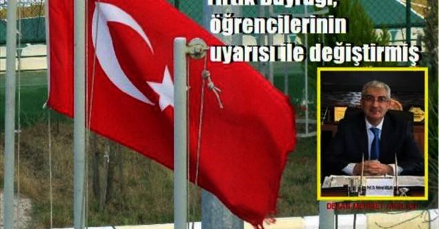 Türk bayrağına saygısızlık!
